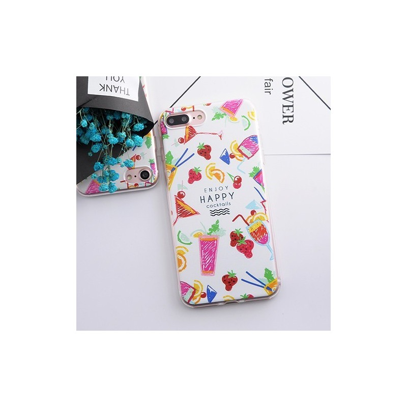 CAPA TRASEIRA COCKTAILS IPHONE 7 iPhone 7|8|SE 2020