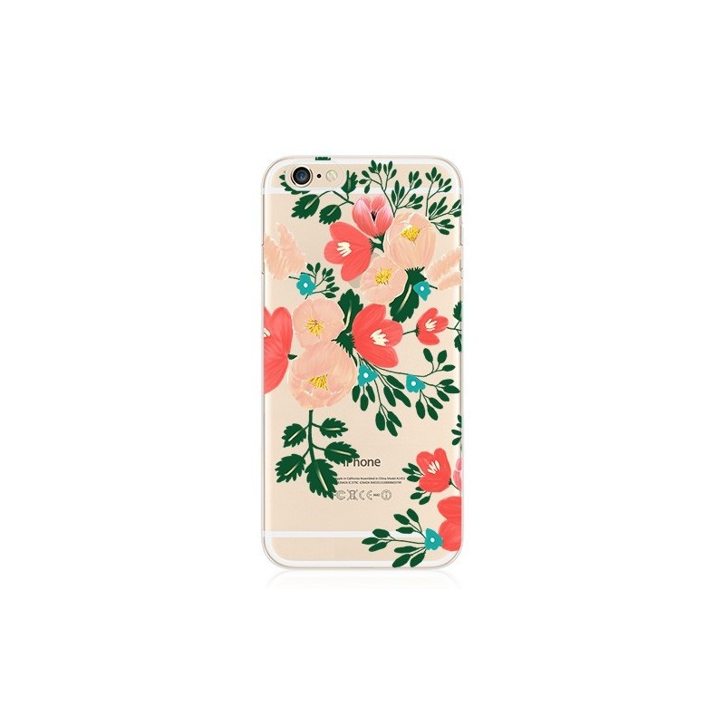CAPA TRASEIRA FLORES IPHONE 5C TRANSPARENTE iPhone 5C