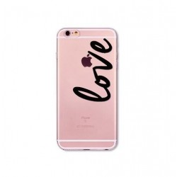 CAPA TRASEIRA LOVE IPHONE 6/6S TRANSPARENTE
