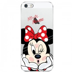 CAPA TRASEIRA MINNIE MOUSE IPHONE 5C TRANSPARENTE iPhone 5C