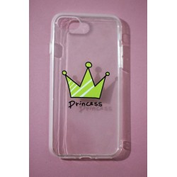 CAPA TRASEIRA PRINCESA IPHONE 7 TRANSPARENTE iPhone 7|8|SE 2020