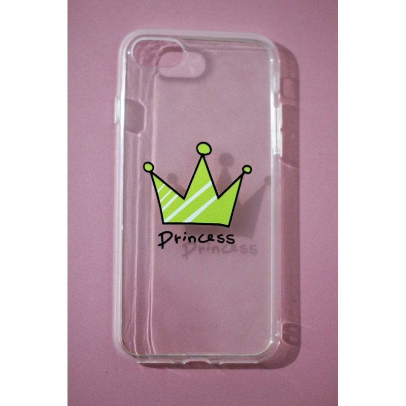 CAPA TRASEIRA PRINCESA IPHONE 7 TRANSPARENTE