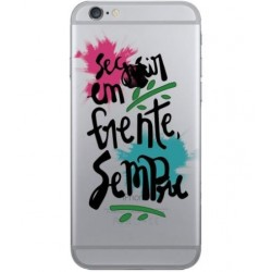 CAPA TRASEIRA FRASE IPHONE 7 TRANSPARENTE iPhone 7|8|SE 2020