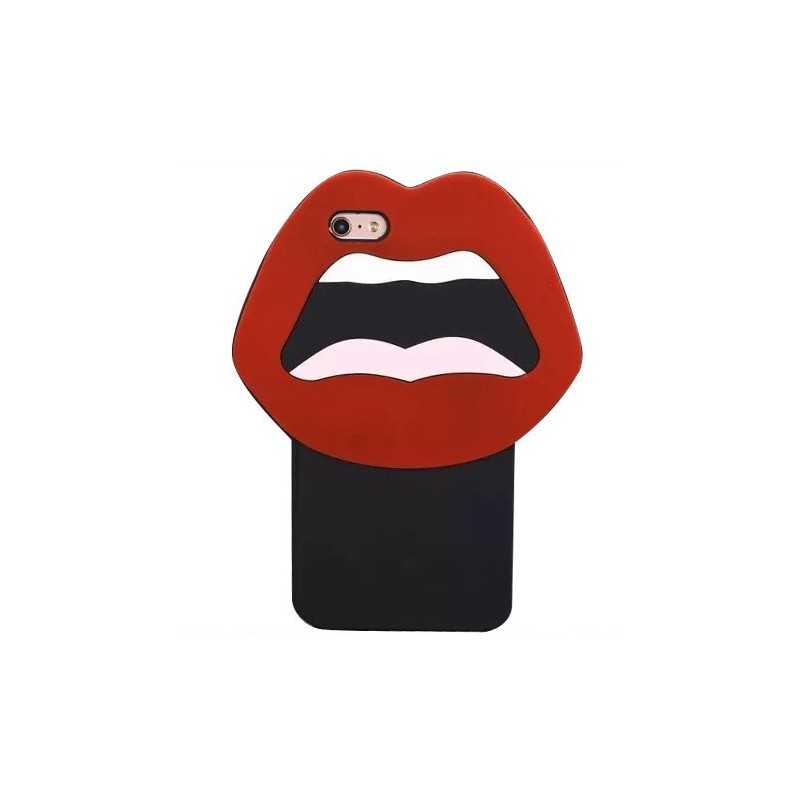 CAPA 3D IPHONE 5|5S|5C|SE SMILE RED LIPS iPhone 5|5S|SE