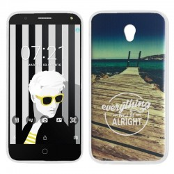 Capa Alcatel Pop 4 (5) Design Beach POP 4