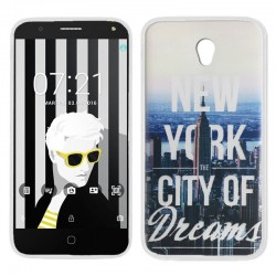 Capa Alcatel Pop 4 (5) Design New York POP 4