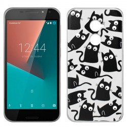 CAPA TRASEIRA COOL GATOS VODAFONE SMART N8