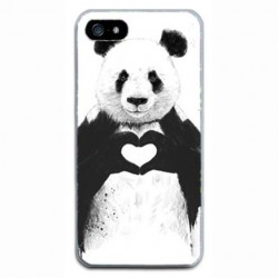 CAPA TRASEIRA LOVE PANDA IPHONE 5/5S/SE