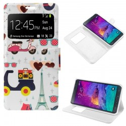 Capa Flip Cover Samsung Galaxy Note 4 Design Motos Galaxy Note 4