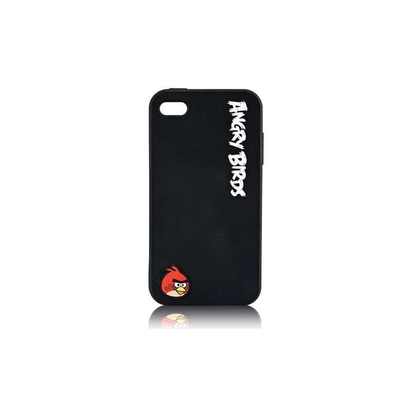 CAPA TRASEIRA ANGRY BIRDS BLACK IPHONE 4|4S iPhone 4|4S