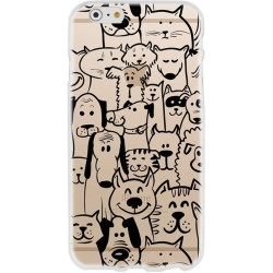 CAPA TRASEIRA DOGS & CATS IPHONE 7/8 PLUS TRANSPARENTE