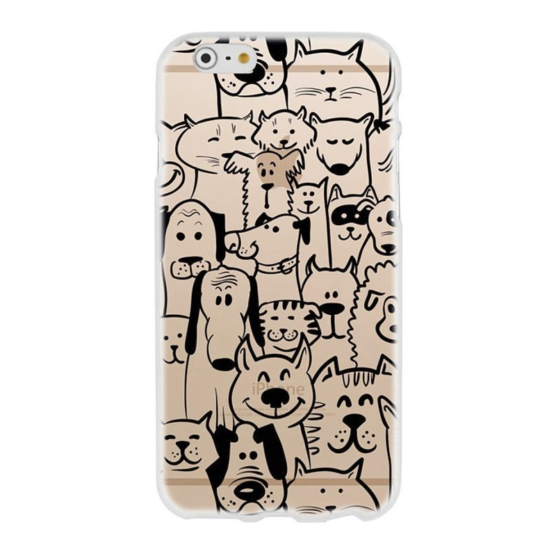 CAPA TRASEIRA DOGS & CATS SAMSUNG GALAXY GRAND PRIME TRANSPARENTE