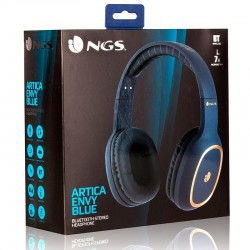 Auriculares Stereo Bluetooth Universal NGS Artica Envy Azul Auriculares