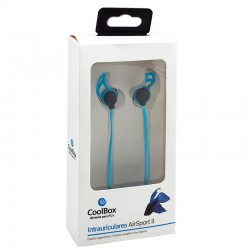 Auriculares 3,5 mm Stereo Desportivos CoolBox Airsport Auriculares