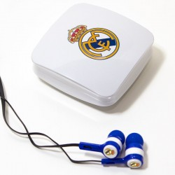 Auriculares 3,5 mm Stereo Oficial Futebol Real Madrid C.F. Auriculares