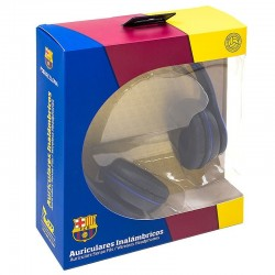 Auriculares Stereo Bluetooth Oficial Futebol F.C. Barcelona Auriculares