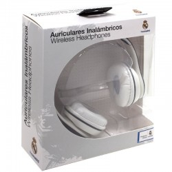 Auriculares Stereo Bluetooth Oficial Futebol Real Madrid C.F. Auriculares
