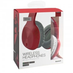 Auriculares Stereo Bluetooth Stereo Omega Wireless Vermelho Auriculares