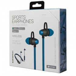 Auriculares Stereo Bluetooth Neck Platinet Sport Azul Auriculares