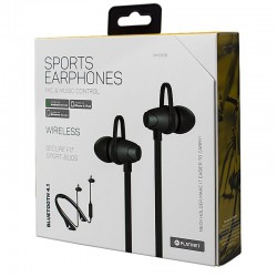 Auriculares Stereo Bluetooth Neck Platinet Sport Preto Auriculares