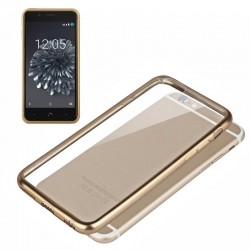 Capa BQ Aquaris X5 Plus Borda Metalizado (Dourado) Aquaris X5 Plus
