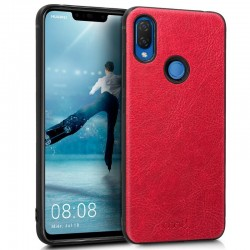 Capa Huawei P Smart Plus Leather Pele Vermelho P Smart Plus