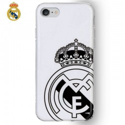 Capa IPhone 7 / iPhone 8 Oficial Futebol Real Madrid Branca Escudo iPhone 7|8