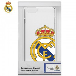 Capa IPhone 7 / iPhone 8 Oficial Futebol Real Madrid Transparente Escudo iPhone 7|8