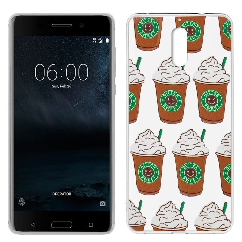 Capa Nokia 6 Clear Coffee NOKIA 6