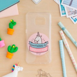 Capa Samsung G935 Galaxy S7 Edge Oficial Mr Wonderful Unicornio Transparente Galaxy S7 Edge