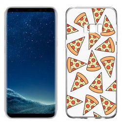 Capa Samsung G955 Galaxy S8 Plus Clear Pizza Galaxy S8 Plus