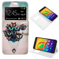 Capa Flip Cover Alcatel A3 Design Borboletas Galaxy A3