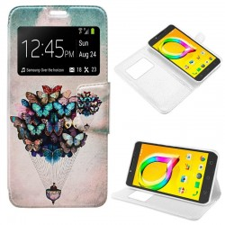 Capa Flip Cover Alcatel A5 Led Design Borboletas A5 LED