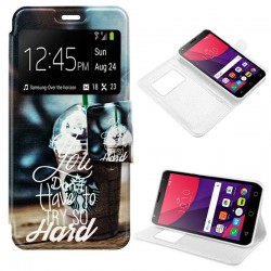 Capa Flip Cover Alcatel Pixi 4 (5) 3G Design Coffee Pixi 4 (5)