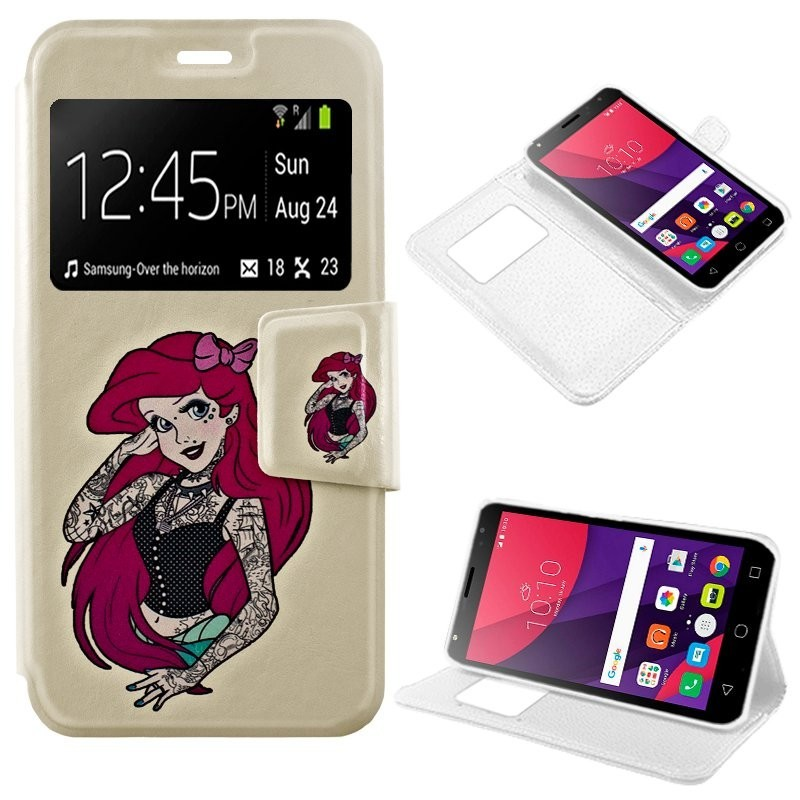 Capa Flip Cover Alcatel Pixi 4 (5) 3G Design Girl Pixi 4 (5)