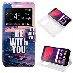 Capa Flip Cover Alcatel Pixi 4 (5) 4G / Smart 7 Turbo Design City Pixi 4 (5)
