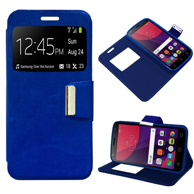 Capa Flip Cover Alcatel Pixi 4 (5) 4G / Smart 7 Turbo Liso Azul Pixi 4 (5)