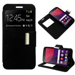 Capa Flip Cover Alcatel Pixi 4 (5) 4G / Smart 7 Turbo Liso Preto Pixi 4 (5)