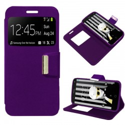 Capa Flip Cover Alcatel Pop 4 (5) Liso Violeta POP 4