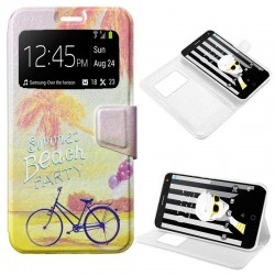 Capa Flip Cover Alcatel Pop 4 Plus Design Beach POP 4 Plus