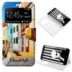 Capa Flip Cover Alcatel Pop 4 Plus Design City POP 4 Plus