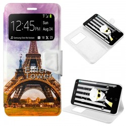 Capa Flip Cover Alcatel Pop 4 Plus Design Paris POP 4 Plus