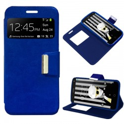 Capa Flip Cover Alcatel Pop 4 Plus Liso Azul POP 4 Plus