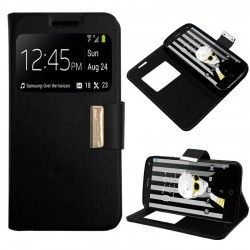 Capa Flip Cover Alcatel Pop 4 Plus Liso Preto POP 4 Plus