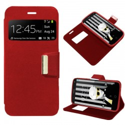 Capa Flip Cover Alcatel Pop 4 Plus Liso Vermelho POP 4 Plus