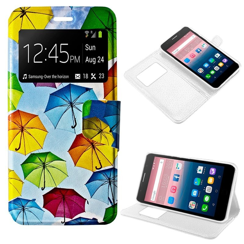 Capa Flip Cover Alcatel Pop Up Design Paraguas POP UP 6044D