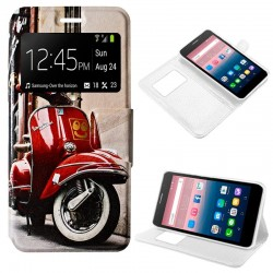 Capa Flip Cover Alcatel Pop Up Design Vespa POP UP 6044D