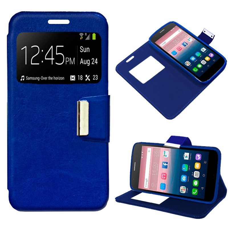 Capa Flip Cover Alcatel Pop Up Liso Azul POP UP 6044D