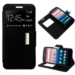 Capa Flip Cover Alcatel Pop Up Liso Preto POP UP 6044D