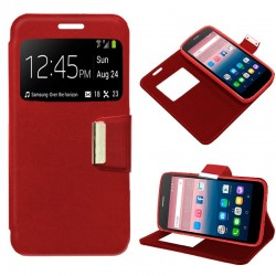 Capa Flip Cover Alcatel Pop Up Liso Vermelho POP UP 6044D